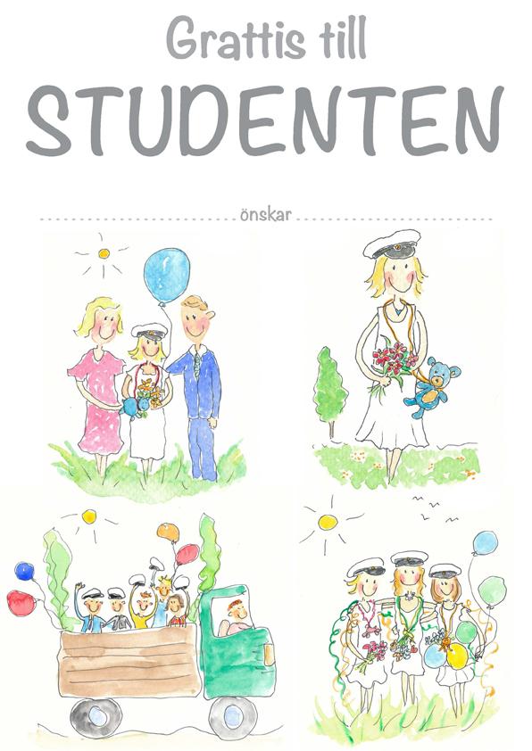 grattis på studenten Diplom