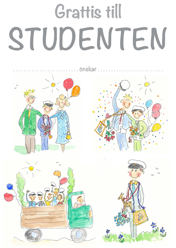 grattis till studenten och lycka till Diplom