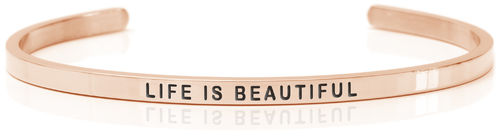 LIFE IS BEAUTIFUL 18K Rose gold, Swedish steel (Buy One Give One collection)