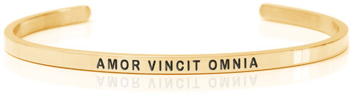 AMOR VINCIT OMNIA 18K Gold, Swedish steel (Buy One Give One collection)