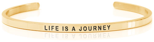 LIFE IS A JOURNEY 18K Gold, Swedish steel (Buy One Give One collection)