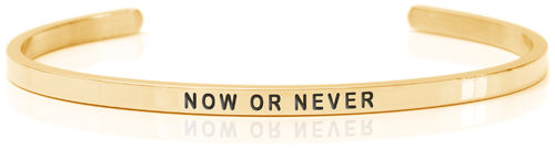 NOW OR NEVER 18K Gold, Swedish steel (Buy One Give One collection)