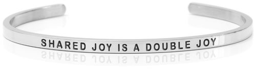 SHARED JOY IS A DOUBLE JOY Swedish steel (Buy One Give One collection)