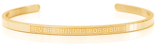 EVERYTHING IS POSSIBLE 18K Gold, Swedish steel (Lisa Collection)