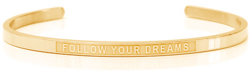 FOLLOW YOUR DREAMS 18K Gold, Swedish steel (Lisa Collection)