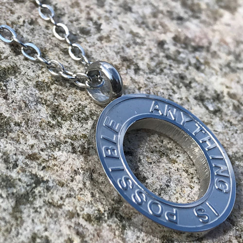 ANYTHING IS POSSIBLE Steel necklace