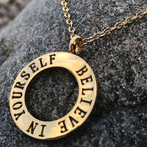 BELIEVE IN YOURSELF Gold necklace