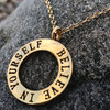 BELIEVE IN YOURSELF 18K Gold (Amanda Collection)