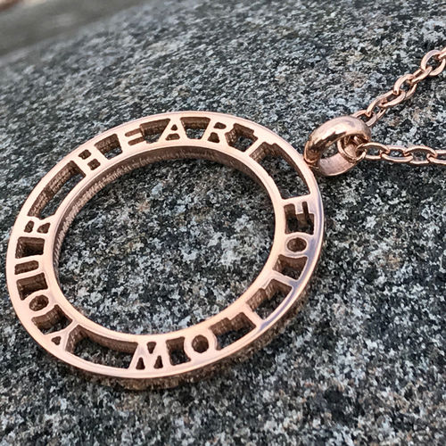 FOLLOW YOUR HEART Rose gold necklace