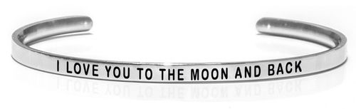 "I LOVE YOU TO THE MOON AND BACK Steel (Buy One Give One collection) ""Not for sale in the USA"""