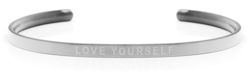"LOVE YOURSELF Steel/Transparent (Buy One Give One collection) ""Not for sale in the USA"""