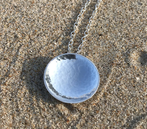 Anemone necklace - Swedish sterling silver, handmade in Sweden