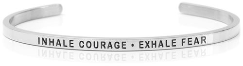 INHALE COURAGE - EXHALE FEAR Steel (American collection)
