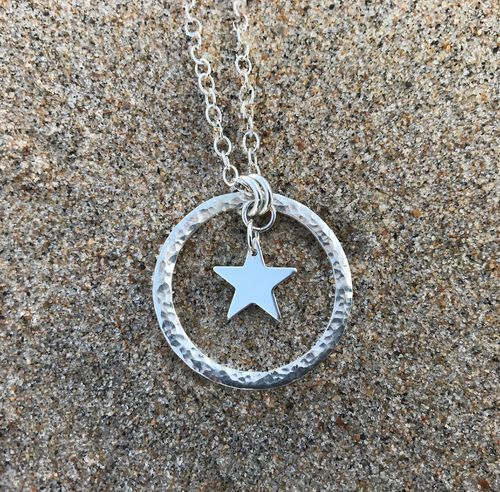 Star flower halsband - Swedish sterling silver, handmade in Sweden