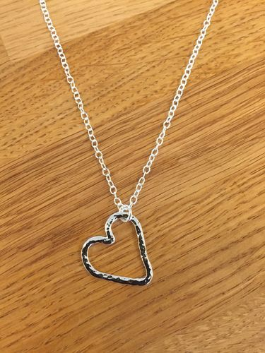 Open heart halsband - Swedish sterling silver, handmade in Sweden