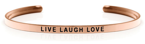 LIVE LAUGH LOVE Rose gold