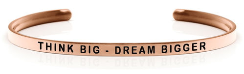 THINK BIG - DREAM BIGGER Rose gold